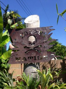 Pirate sign we made. Added the holes and rust.