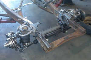TCI independent front suspension with air ride installed.