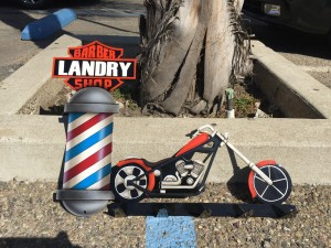 Custom designed Hangster we made for Landry Barbers. Custom painted by Cory Cowger Now You Know Customs.