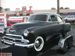 1951 Chevy Fleetline we did a lot of rust repair. Also did the complete chassis.
