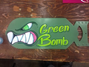 Panel Jammers™ Large Bomb painted by Chris Blohme.