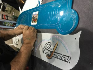 A special Panel Jammers™ Roadster Panel with Gavin R Stevens, PPG and Panel Jammers™ logo being worked on.