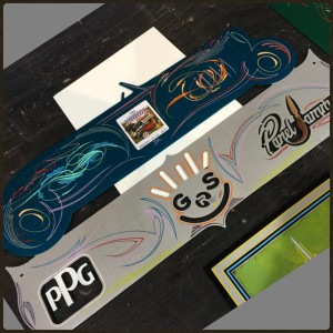 A special Panel Jammers™ Roadster Panel with Gavin R Stevens, PPG and Panel Jammers™ logo all finished.